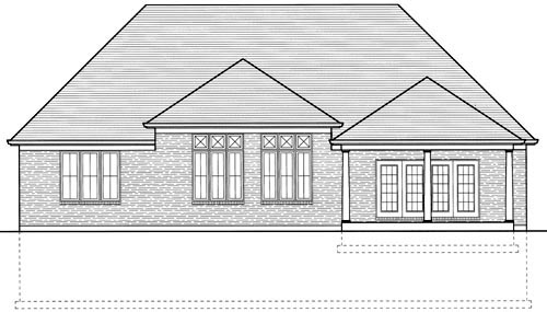 European House Plan 97750 Rear Elevation