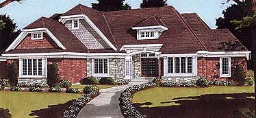 European House Plan 97751 Elevation