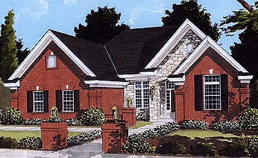 Traditional House Plan 97752 with 3 Beds, 3 Baths, 2 Car Garage Elevation