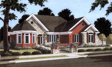 Traditional House Plan 97753 Elevation