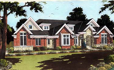 Traditional Tudor House Plan 97754 Elevation