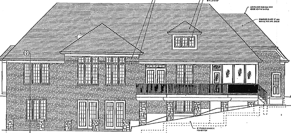 Traditional Tudor House Plan 97754 Rear Elevation