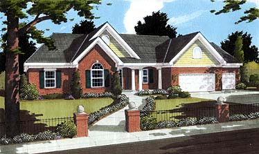 Traditional House Plan 97757 with 3 Beds, 2 Baths, 3 Car Garage Elevation