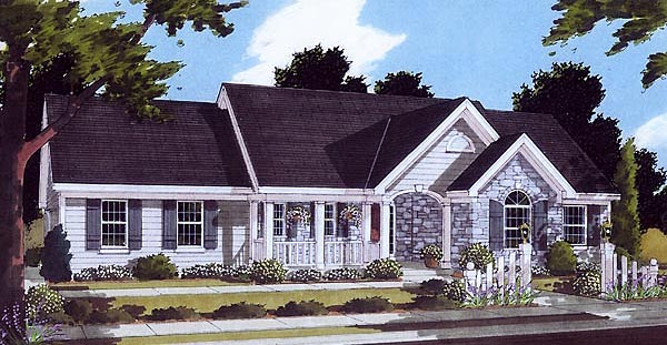 Bungalow , Ranch House Plan 97760 with 3 Beds, 2 Baths, 2 Car Garage Elevation
