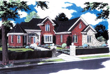 European, Victorian House Plan 97761 with 3 Beds, 3 Baths, 3 Car Garage Elevation