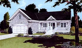 House Plan 97762 | Ranch Style Plan with 1594 Sq Ft, 3 Bedrooms, 2 Bathrooms, 2 Car Garage Elevation