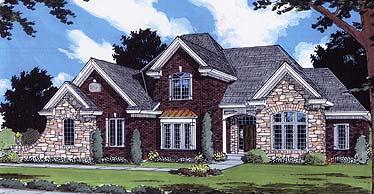 Bungalow European House Plan 97768 Elevation