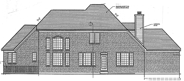 Bungalow European House Plan 97768 Rear Elevation