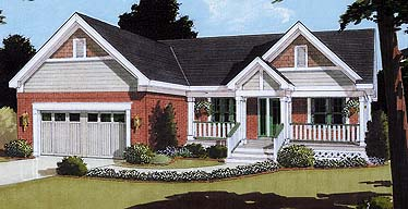 House Plan 97769 | Cape Cod Country Style Plan with 1594 Sq Ft, 3 Bedrooms, 2 Bathrooms, 2 Car Garage Elevation
