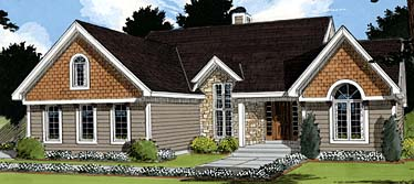 Bungalow House Plan 97771 with 3 Beds, 3 Baths, 2 Car Garage Elevation
