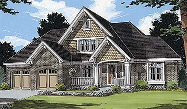 Bungalow House Plan 97772 Elevation