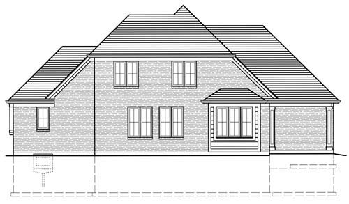 Bungalow House Plan 97772 Rear Elevation
