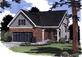 Bungalow House Plan 97773 with 3 Beds, 3 Baths Elevation