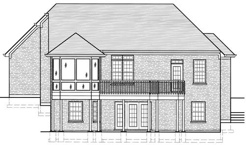 Traditional House Plan 97774 Rear Elevation