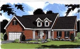 House Plan 97775 | Country Style Plan with 2205 Sq Ft, 3 Bedrooms, 3 Bathrooms, 2 Car Garage Elevation