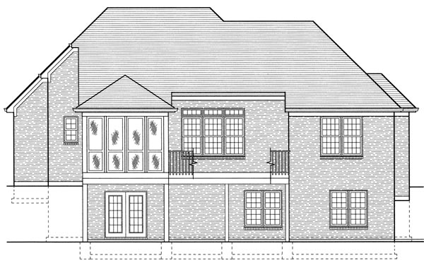 Colonial European House Plan 97776 Rear Elevation