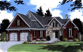 House Plan 97779 | Bungalow Style Plan with 2077 Sq Ft, 3 Bedrooms, 3 Bathrooms Elevation