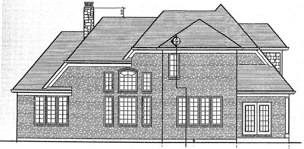 Bungalow House Plan 97779 Rear Elevation