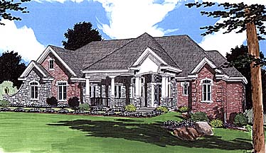 Colonial European House Plan 97781 Elevation