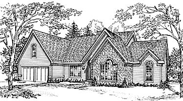 European Traditional House Plan 97787 Elevation