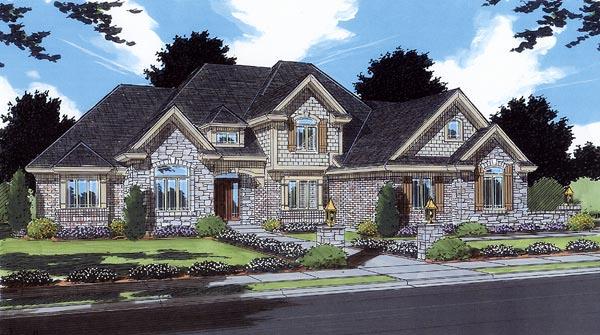 Bungalow European House Plan 97789 Elevation