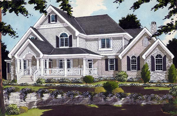 Bungalow Country European Farmhouse House Plan 97791 Elevation