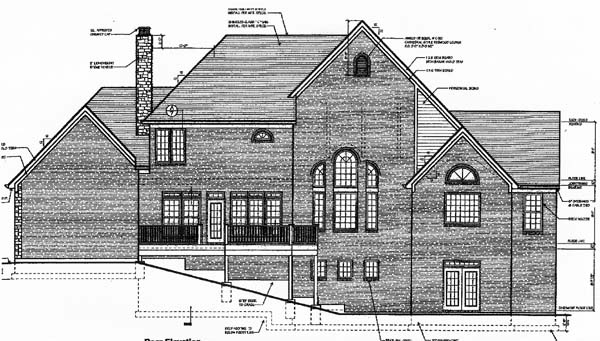 Bungalow Country European Farmhouse House Plan 97791 Rear Elevation