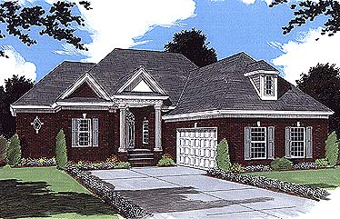 European House Plan 97792 with 3 Beds, 3 Baths, 2 Car Garage Elevation