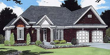 European House Plan 97793 Elevation