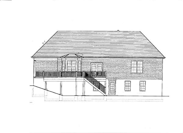 European House Plan 97794 Rear Elevation