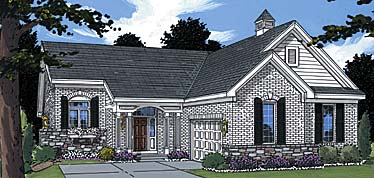 Traditional House Plan 97795 with 3 Beds, 3 Baths, 2 Car Garage Elevation