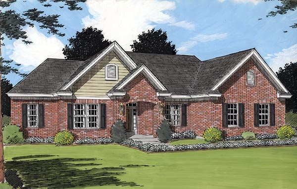 Traditional House Plan 97797 Elevation