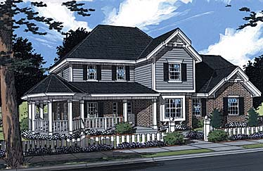 Country Farmhouse House Plan 97799 Elevation
