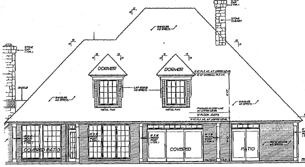 European Tudor House Plan 97801 Rear Elevation