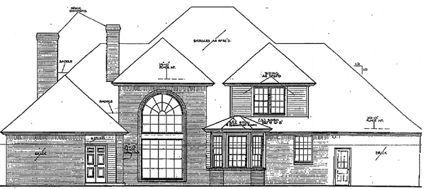Colonial European French Country House Plan 97802 Rear Elevation