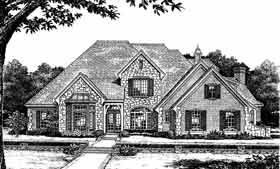 Bungalow , European , French Country House Plan 97805 with 4 Beds, 5 Baths, 3 Car Garage Elevation