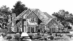 European French Country Tudor House Plan 97808 Elevation