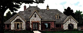European , Country House Plan 97809 with 3 Beds, 3 Baths, 3 Car Garage Elevation
