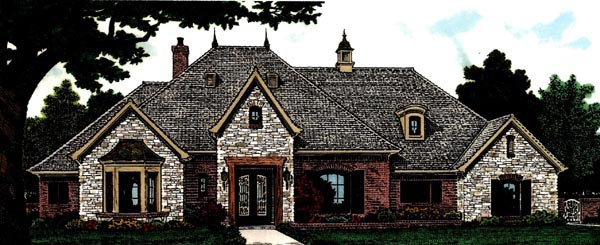 Country European House Plan 97809 Elevation