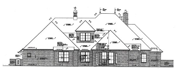 Country European House Plan 97809 Rear Elevation