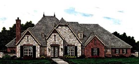 Country European House Plan 97812 Elevation