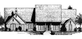 Country French Country House Plan 97814 Elevation