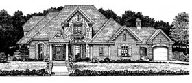 House Plan 97816 | Bungalow, Colonial, European Style House Plan with 2877 Sq Ft, 4 Bed, 4 Bath, 3 Car Garage Elevation