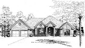 European House Plan 97818 Elevation
