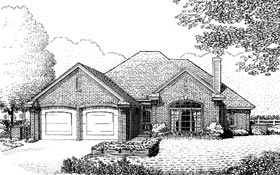 House Plan 97821 | Traditional Style Plan with 1812 Sq Ft, 4 Bedrooms, 2 Bathrooms, 2 Car Garage Elevation