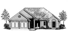 European House Plan 97822 Elevation