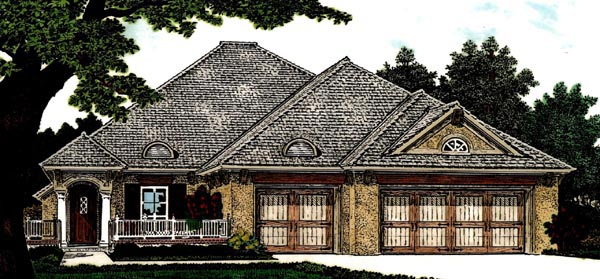 Country European House Plan 97824 Elevation