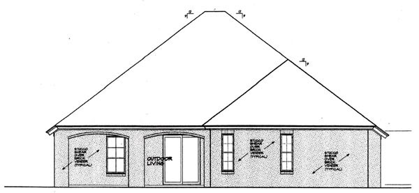 Country European House Plan 97824 Rear Elevation