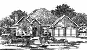 European House Plan 97825 Elevation