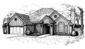 European House Plan 97829 Elevation